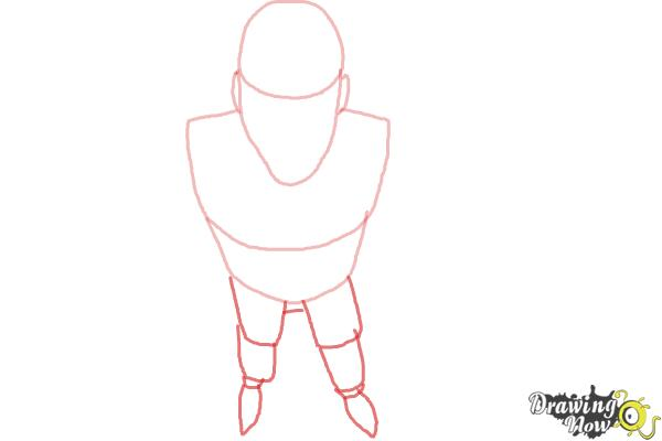 How to Draw a Person from Above - Step 3