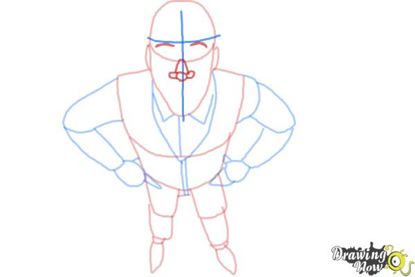 How to Draw a Person from Above - Step 6
