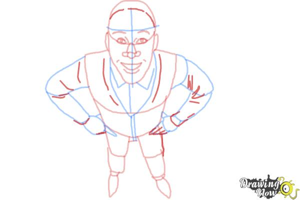 How to Draw a Person from Above - Step 8
