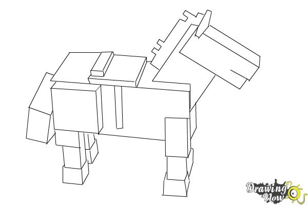 How To Draw The Undead Horse From Minecraft Drawingnow