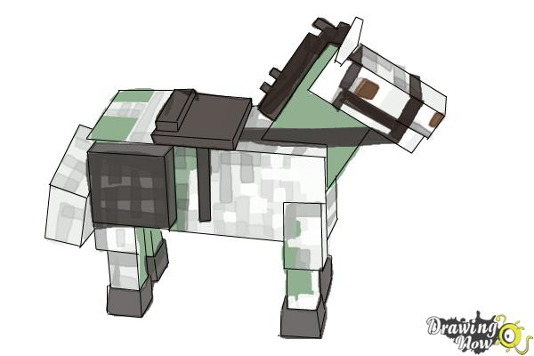 How to Draw The Undead Horse from Minecraft - Step 11