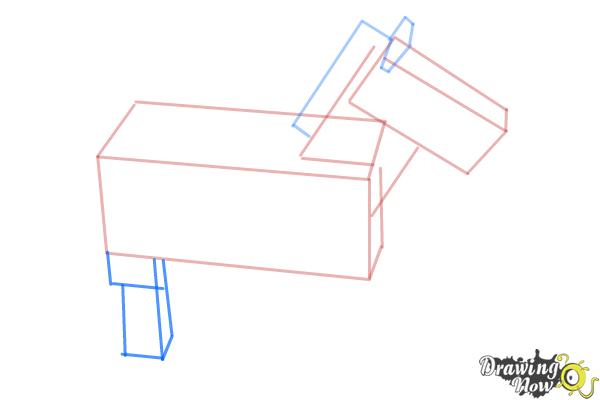 How to Draw The Undead Horse from Minecraft - Step 5