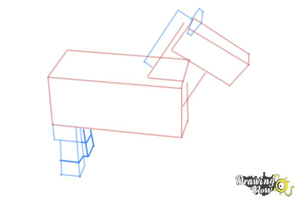 How to Draw The Undead Horse from Minecraft - Step 6