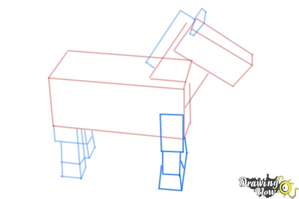 How to Draw The Undead Horse from Minecraft - Step 7