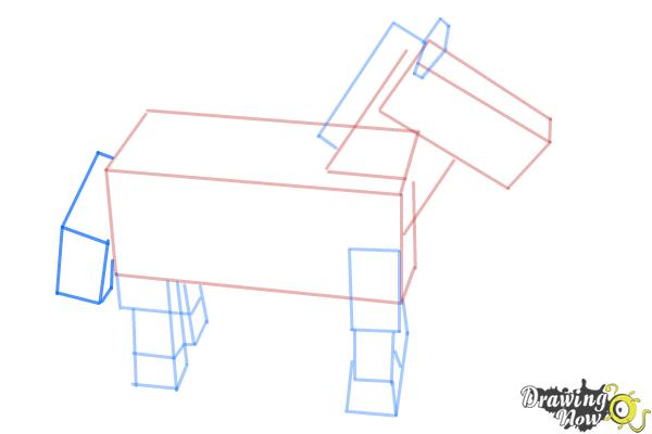How to Draw The Undead Horse from Minecraft - Step 8