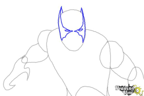 How to Draw Black Panther from Marvel - Step 4