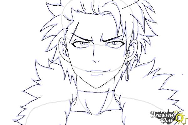 How to Draw Sting Eucliffe from Fairy Tail - Step 10
