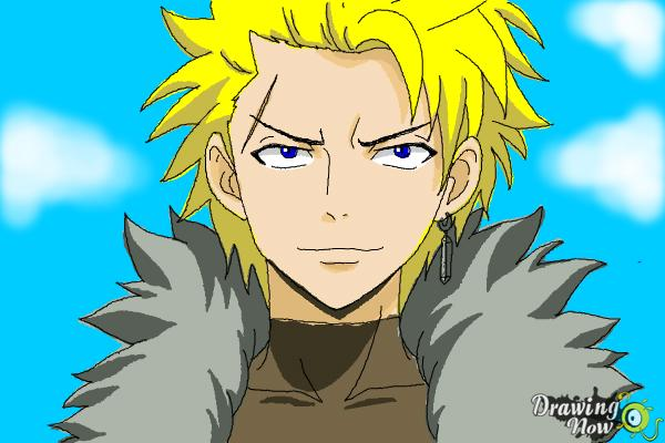 How to Draw Sting Eucliffe from Fairy Tail - Step 11
