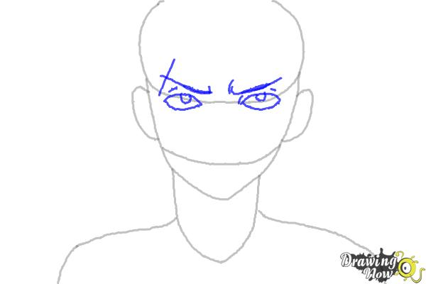 How to Draw Sting Eucliffe from Fairy Tail - Step 3