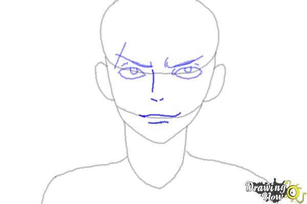 How to Draw Sting Eucliffe from Fairy Tail - Step 4