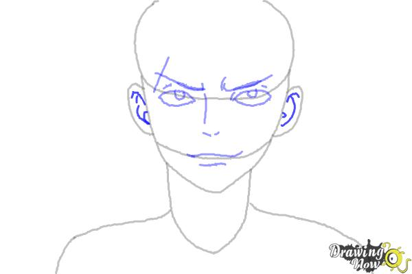 How to Draw Sting Eucliffe from Fairy Tail - Step 5