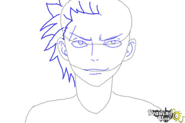 How to Draw Sting Eucliffe from Fairy Tail - Step 6