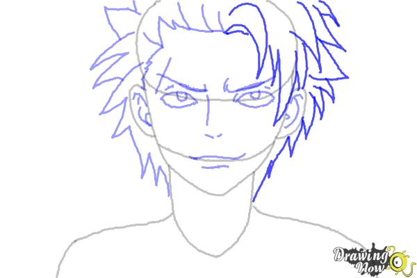 How to Draw Sting Eucliffe from Fairy Tail - Step 7