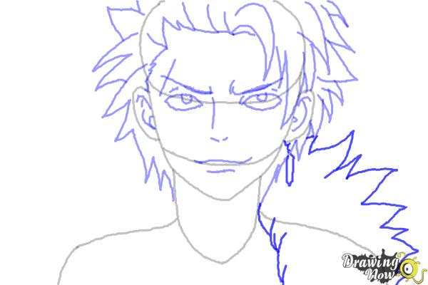 How to Draw Sting Eucliffe from Fairy Tail - Step 8