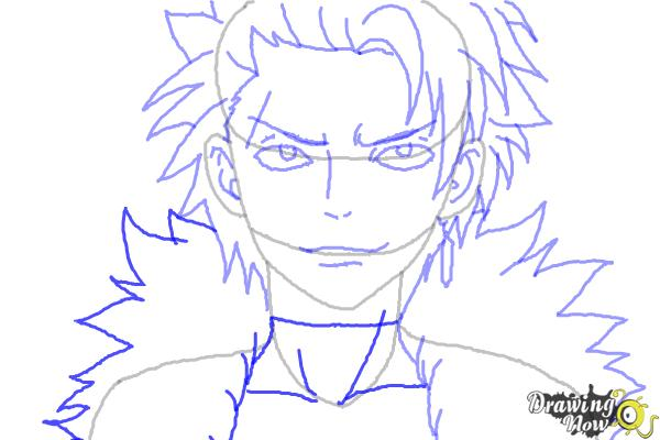 How to Draw Sting Eucliffe from Fairy Tail - Step 9