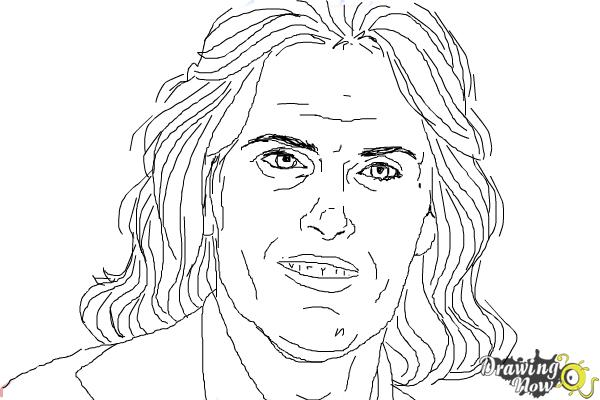 How to Draw Bruce Jenner - Step 10