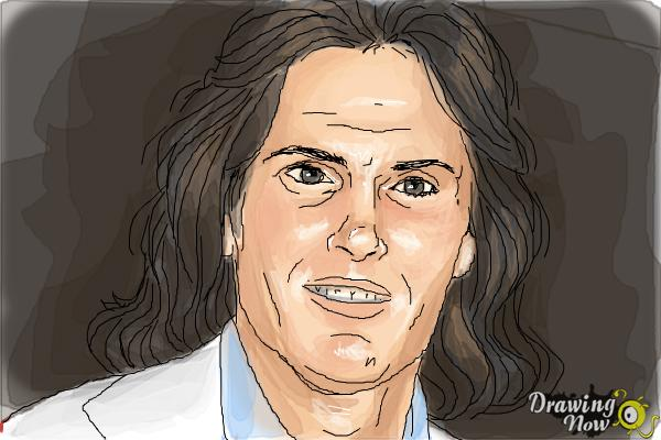How to Draw Bruce Jenner - Step 11