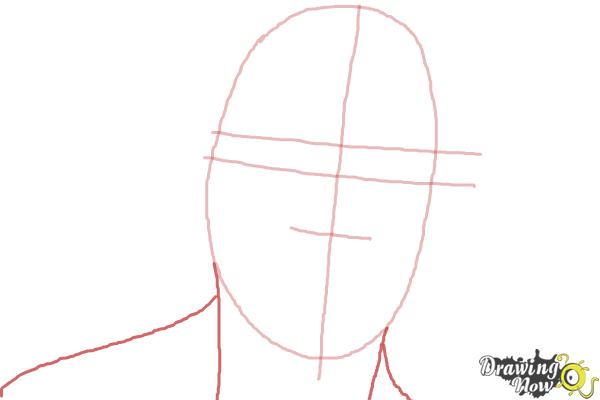 How to Draw Bruce Jenner - Step 2