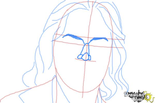 How to Draw Bruce Jenner - Step 6