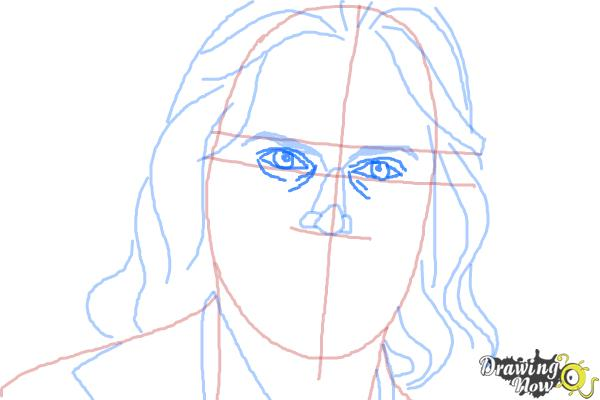 How to Draw Bruce Jenner - Step 7