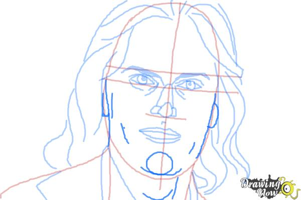 How to Draw Bruce Jenner - Step 9