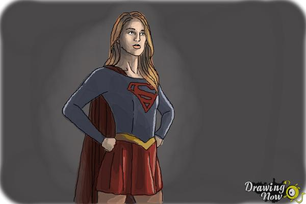 How to Draw Supergirl 2015 - Step 11
