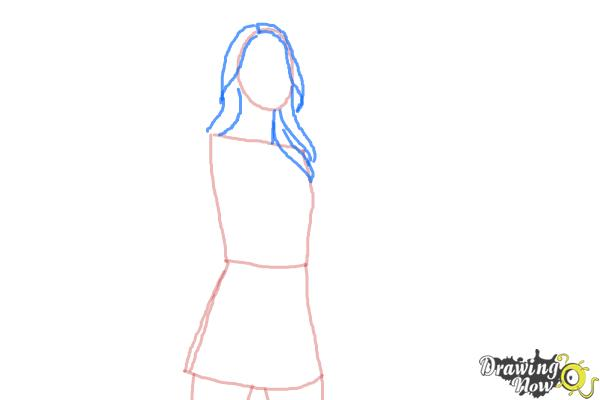 How to Draw Supergirl 2015 - Step 3