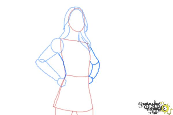 How to Draw Supergirl 2015 - Step 5