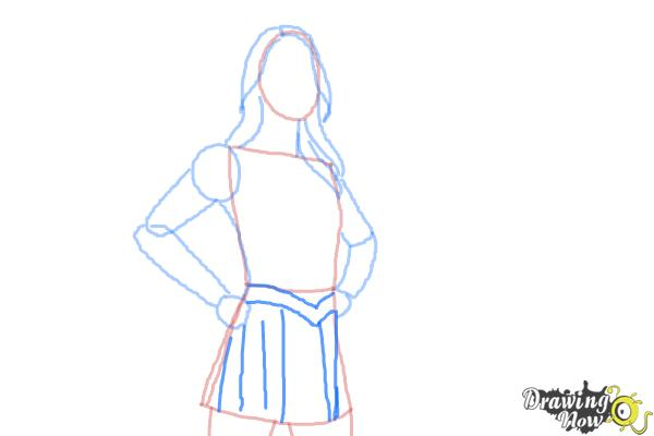 How to Draw Supergirl 2015 - Step 6