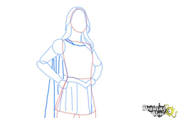 How to Draw Supergirl 2015 - Step 7