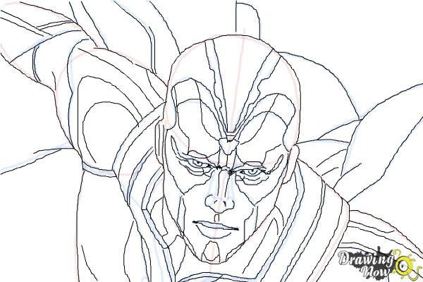 How to Draw Vision from Avengers: Age of Ultron - Step 10