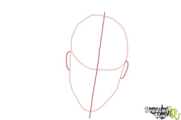 How to Draw Vision from Avengers: Age of Ultron - Step 2