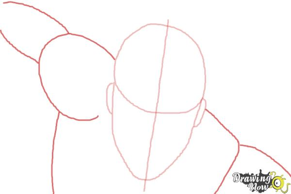 How to Draw Vision from Avengers: Age of Ultron - Step 3