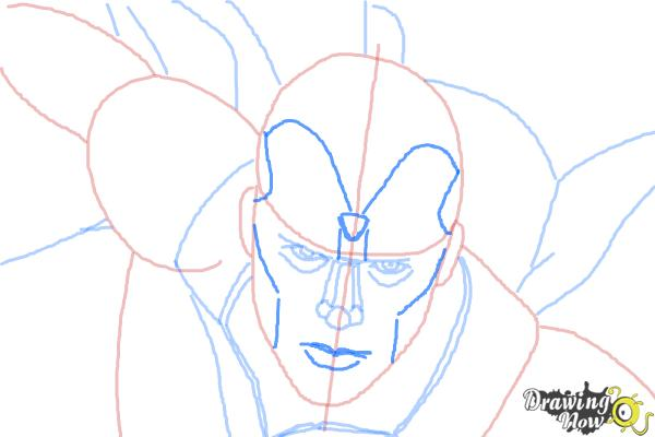 How to Draw Vision from Avengers: Age of Ultron - Step 7
