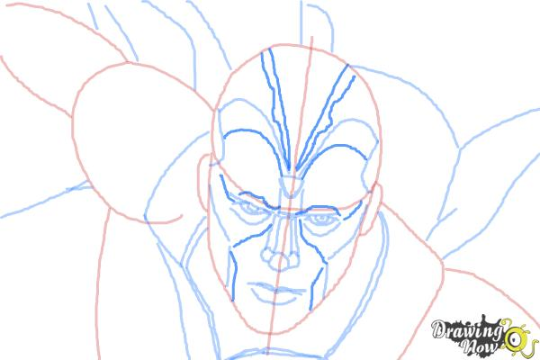 How to Draw Vision from Avengers: Age of Ultron - Step 8