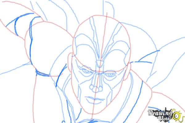 How to Draw Vision from Avengers: Age of Ultron - Step 9