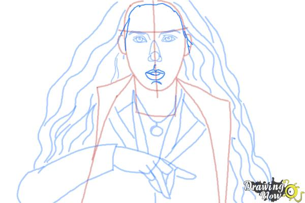 How To Draw Scarlet Witch From Avengers Age Of Ultron