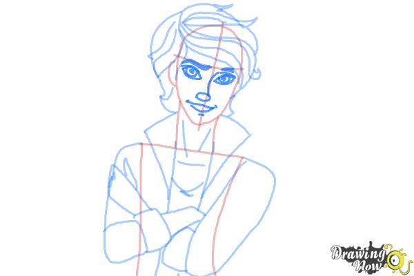 How to Draw Alistair Wonderland The Son Of Alice from Ever After High - Step 8