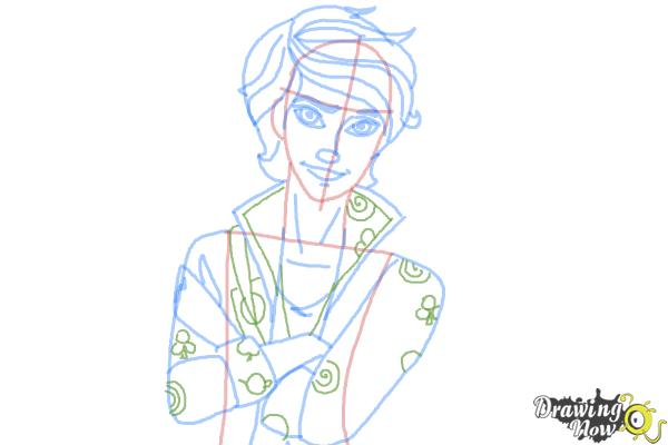 How to Draw Alistair Wonderland The Son Of Alice from Ever After High - Step 9