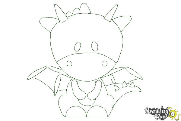 how to draw a dragon for kids step 10 - Easy Pictures For Kids To Draw