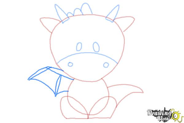 How to Draw a Dragon for Kids - Step 6