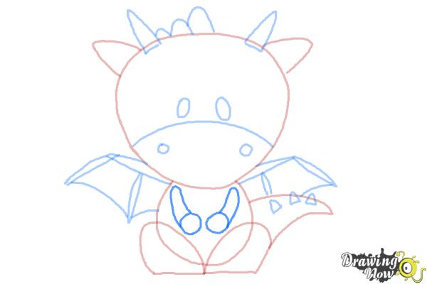 How to Draw a Dragon for Kids - Step 8