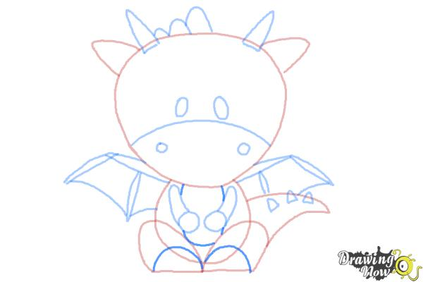 How to Draw a Dragon for Kids - Step 9