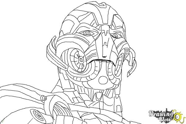How to Draw Ultron from Avengers: Age Of Ultron - Step 10