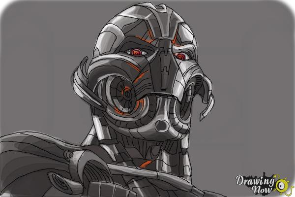 How to Draw Ultron from Avengers: Age Of Ultron - Step 11