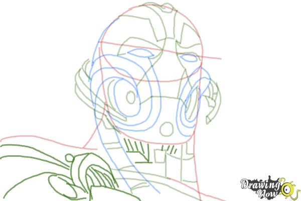 How to Draw Ultron from Avengers: Age Of Ultron - Step 9