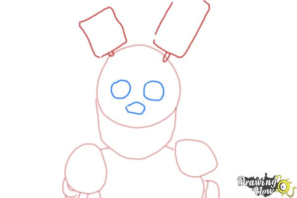 How to Draw Springtrap from Five Nights at Freddy's 3 - Step 4