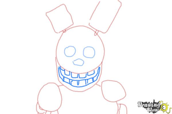 how to draw ignited freddy step by step