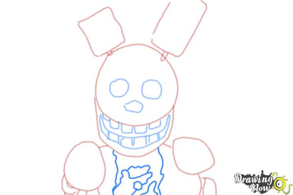 How to Draw Springtrap from Five Nights at Freddy's 3 - Step 6
