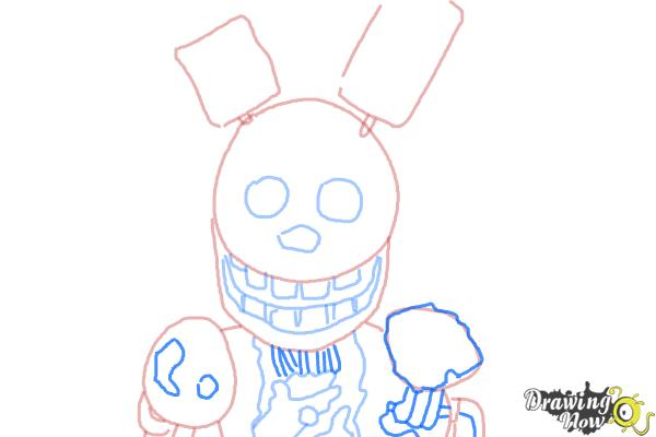 How to Draw Springtrap from Five Nights at Freddy's 3 - Step 7